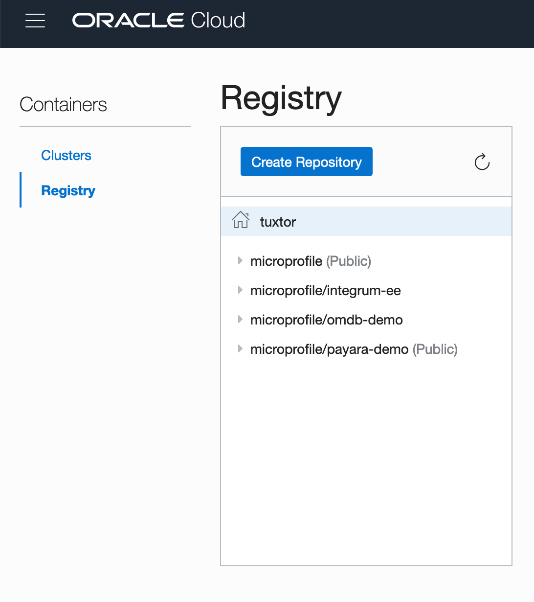 Oracle Container Registry